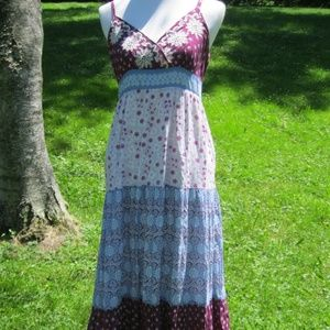Size 4 Style & Co. Cotton print, maxi dress